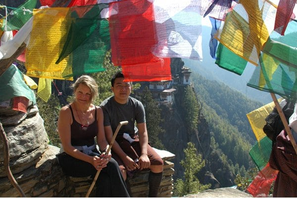Sonam the Saviour: my guide and I at Tiger's Nest.