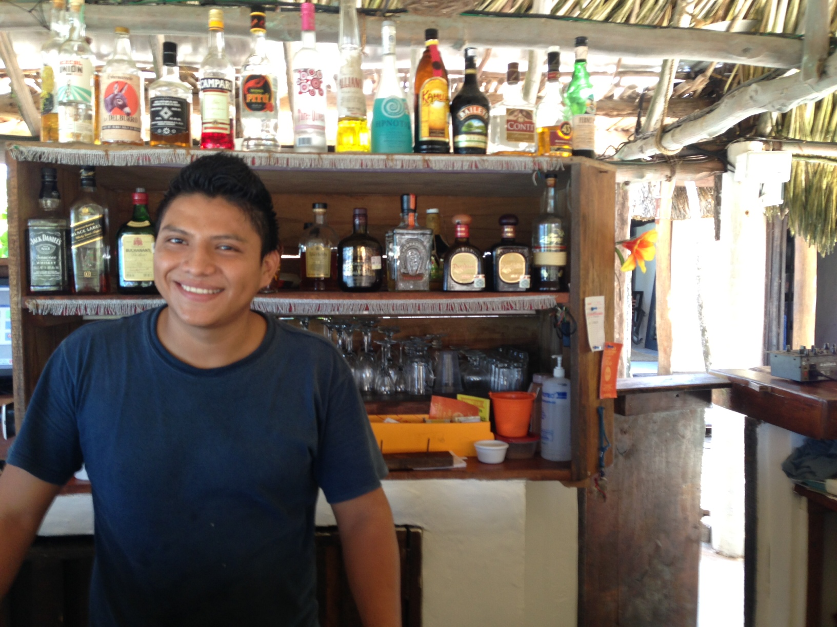 The beach club bartender at PPP.