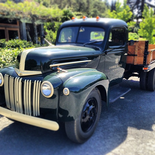 The rustic touches - like this old pick-up - make LBridge