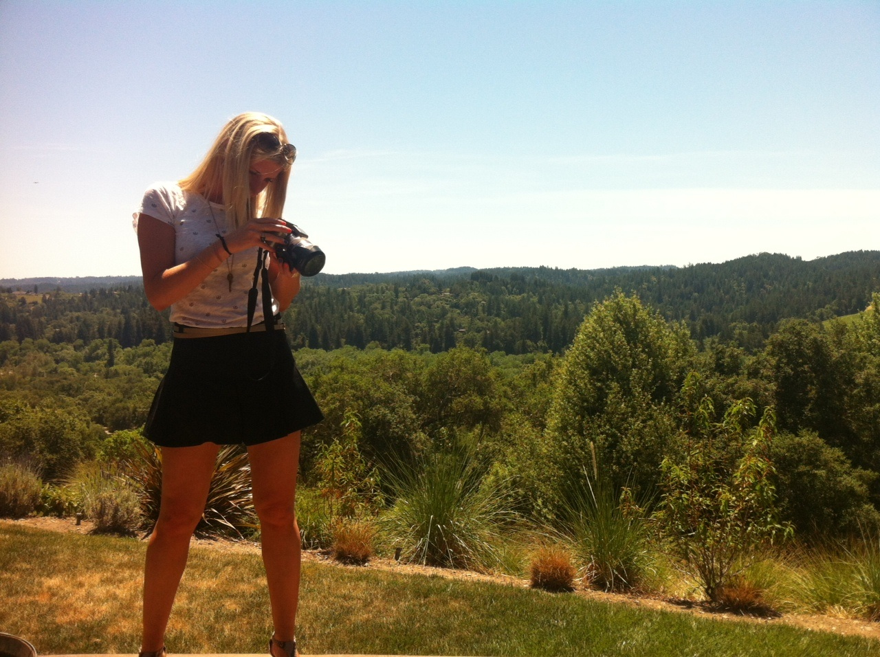 Michaela making sure she captured Gary Farrell Russell River Valley.