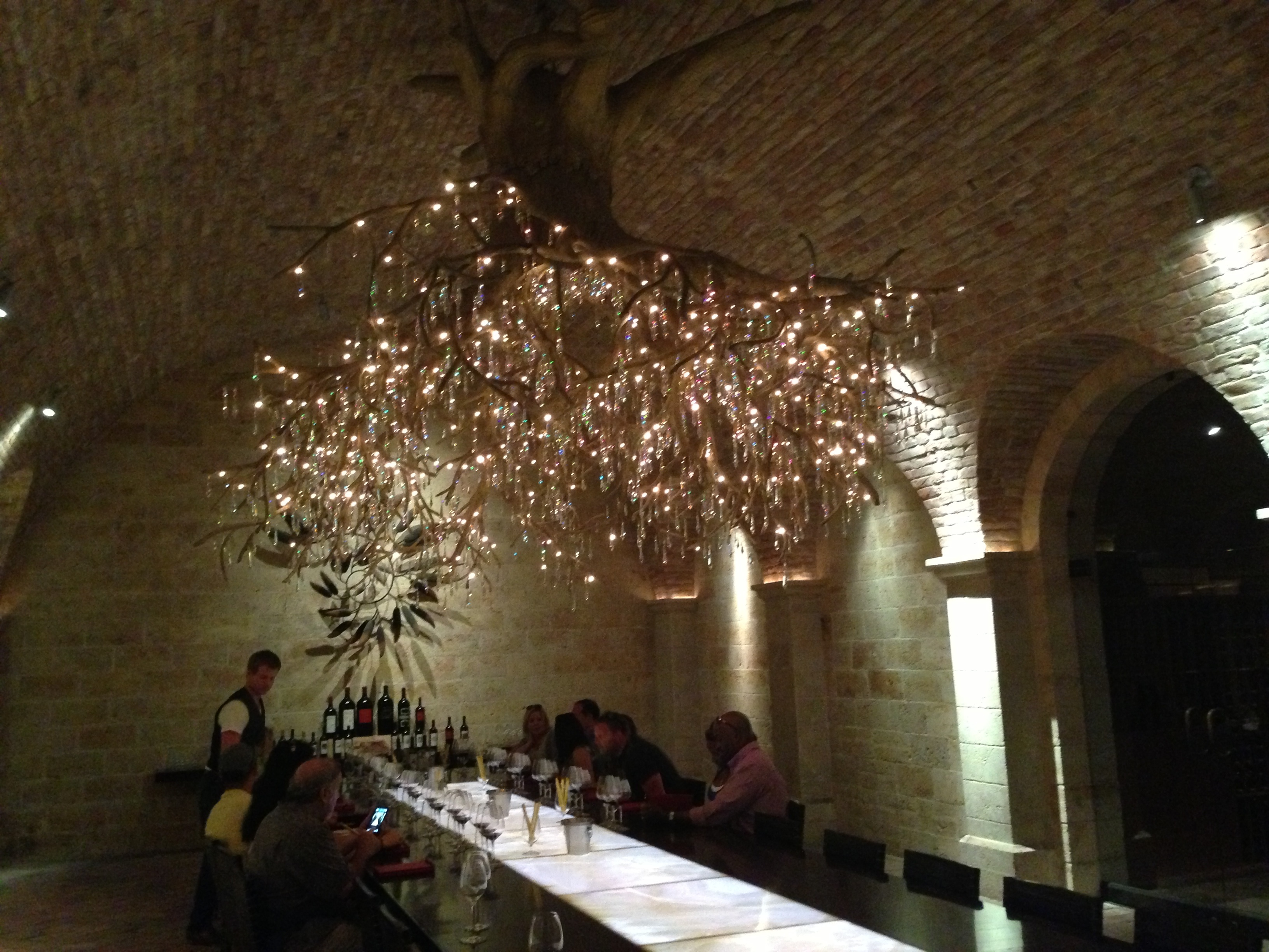 The enchanting tasting room at HALL Rutherford.