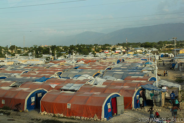 The aftermath of the earthquake-Tent City