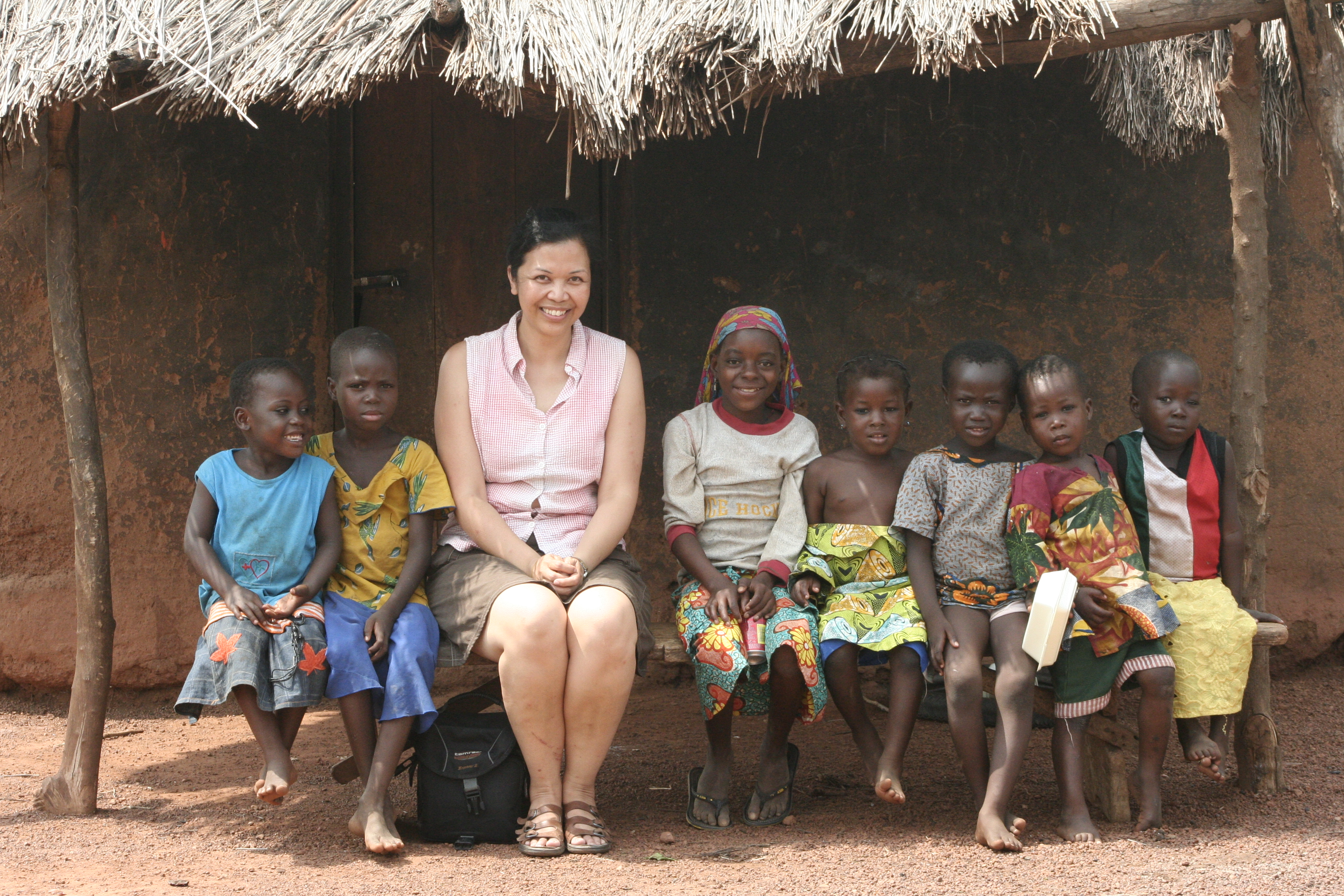 Maryann in a rural village in Northern Ghana visiting a for-profit enterprise for women.
