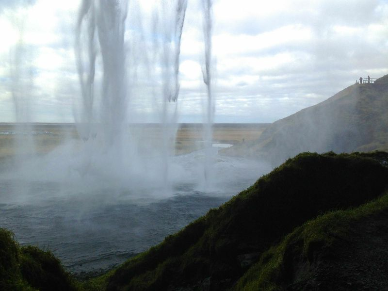 The view from inside Seljalandsfoss.