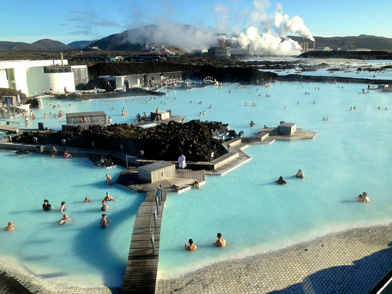 A hot spring in Iceland