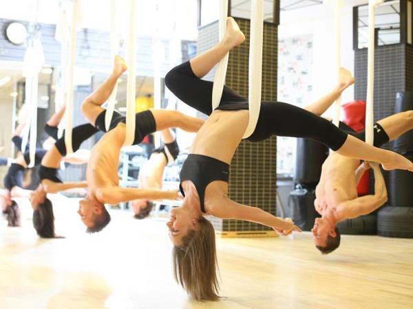 workout while traveling AntiGravity Yoga Fitness Aerial
