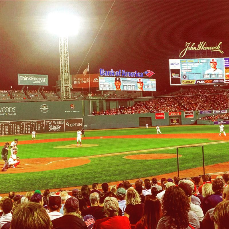Fenway Park baseball field Verb Boston