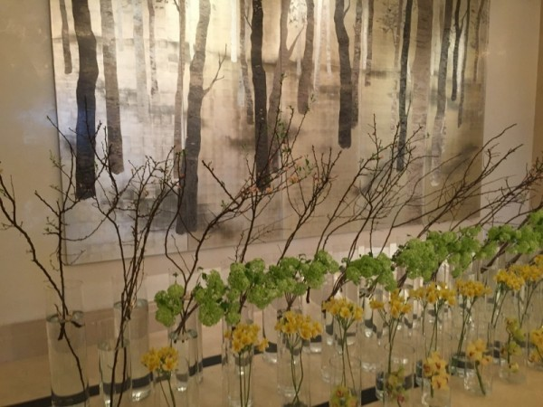 Many floral displays deliberately echo art works