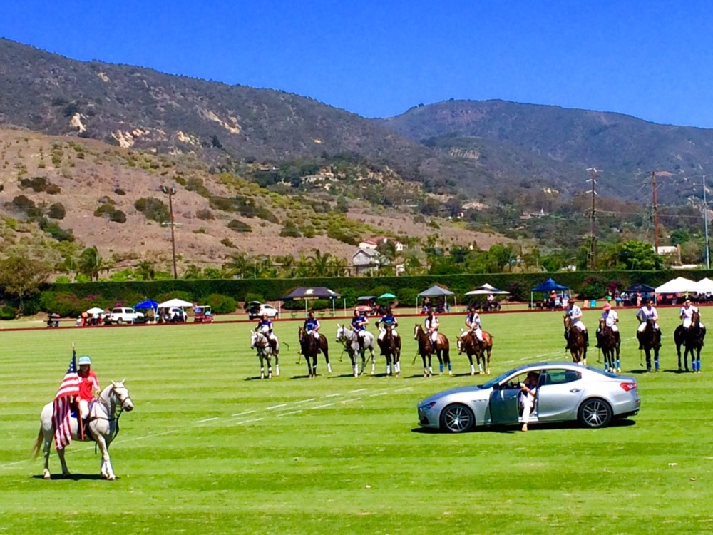 polo field car player California