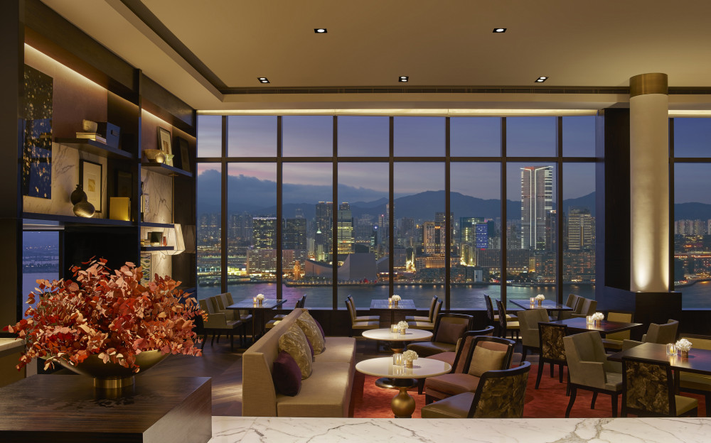 Grand Club Lounge Night Skyline View
