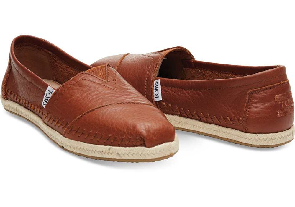 TOMS cognac leather classics
