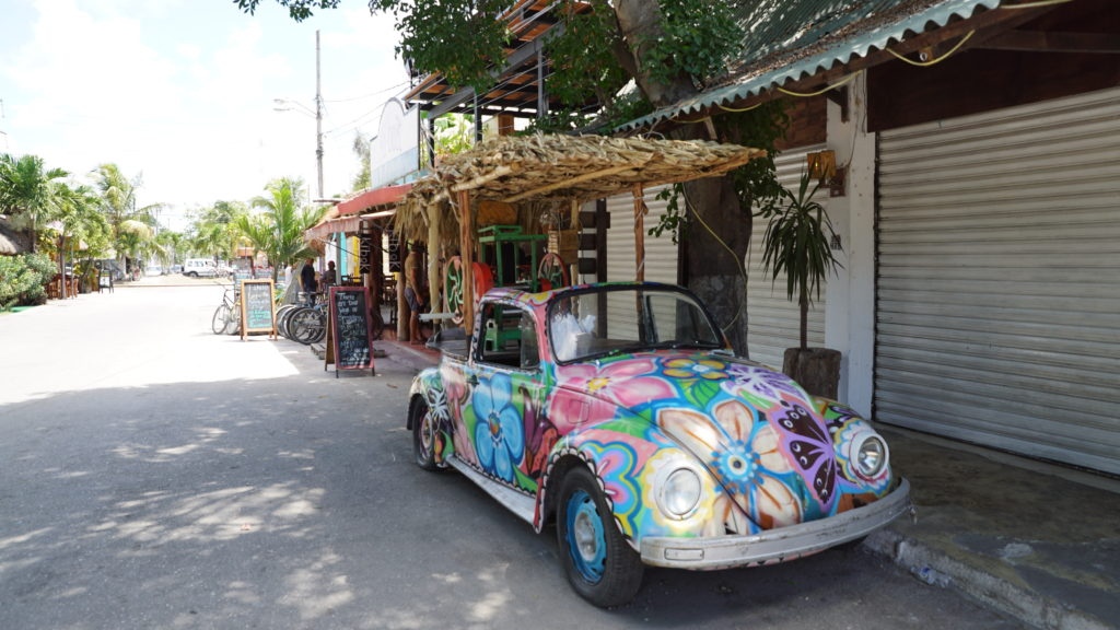 Local Tulum Mexico VW bug street
