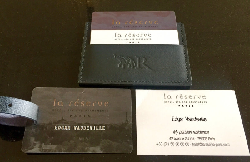 Personalized La Reserve welcome Edgar Vaudeville