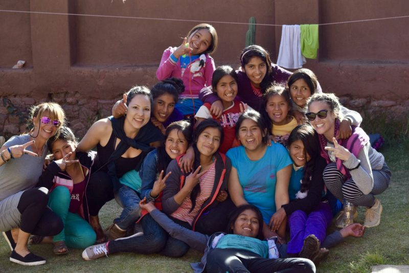Sacred Valley Project Soujourn Yoga girls Peru