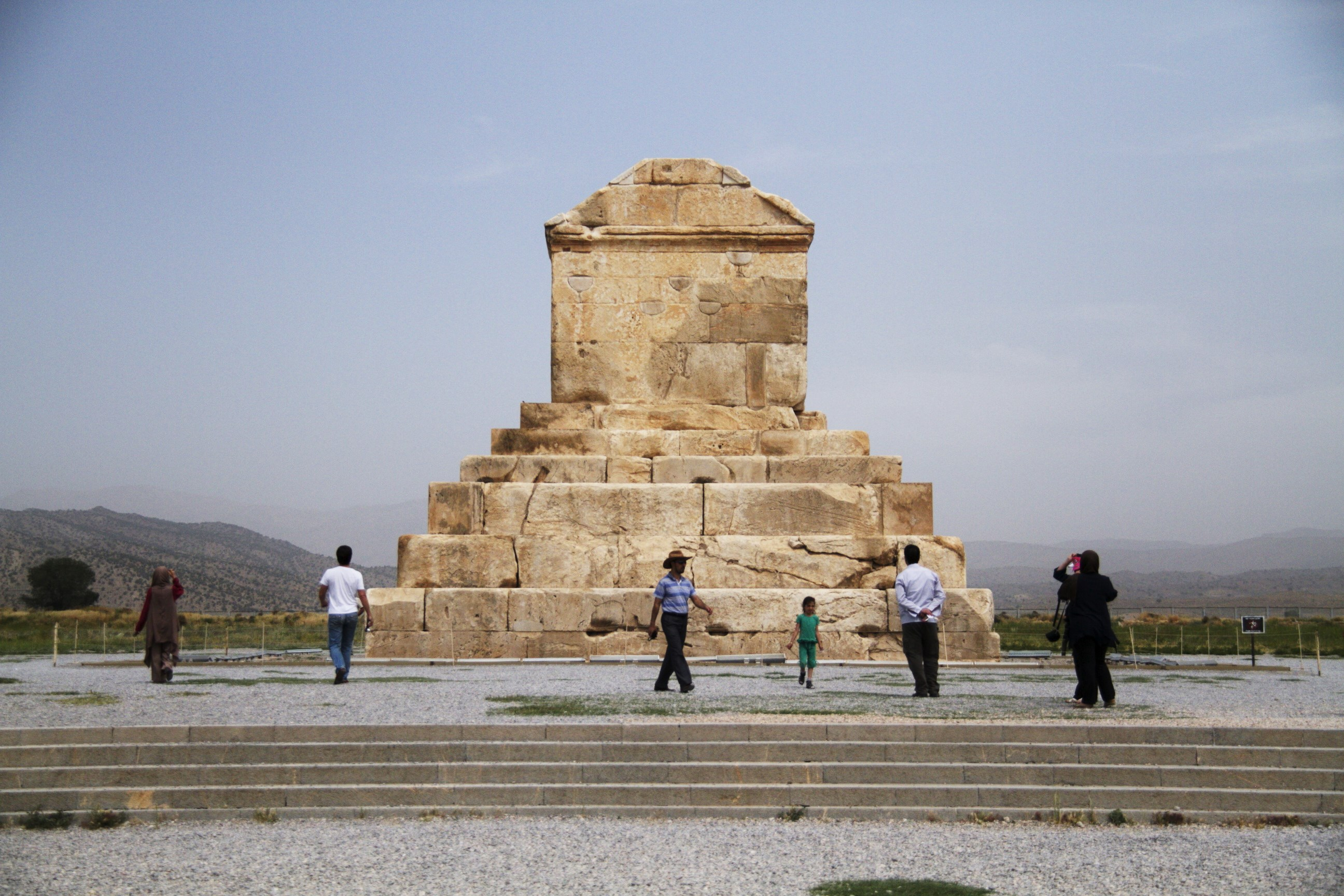 Cyrus Tomb - on our way to Isfahan