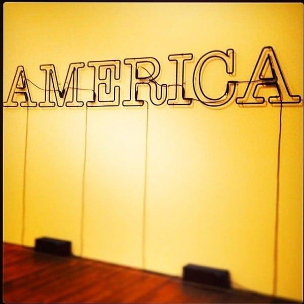 Bright, proud and neon: America. Photo Credit: Michaela Guzy.