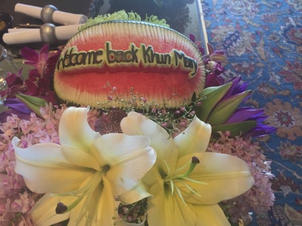 Mandarin Oriental Bangkok Mary Gostelow watermelon