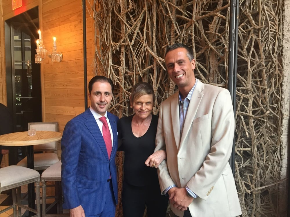 Mary with hotel GM Andrew Turner, on left, and Hans Schaepman, GM of 1 Hotel Central Park