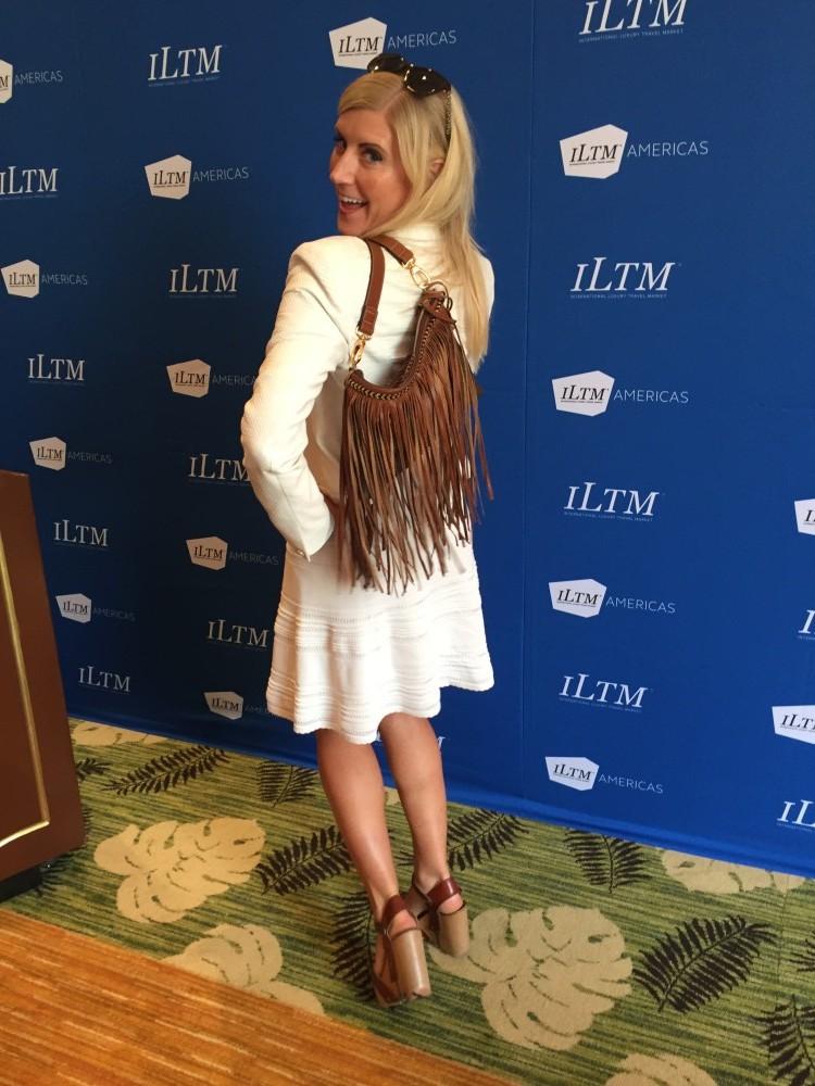 Michaela Guzy ILTM Americas fringe purse professional