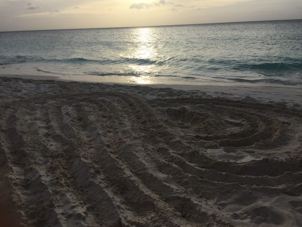 Love Festival Aruba sunset sand heart