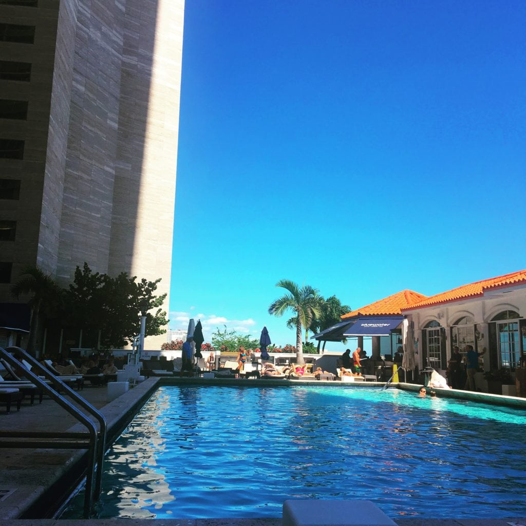 The InterContinental's stunning pool is are is the place to see and be seen.