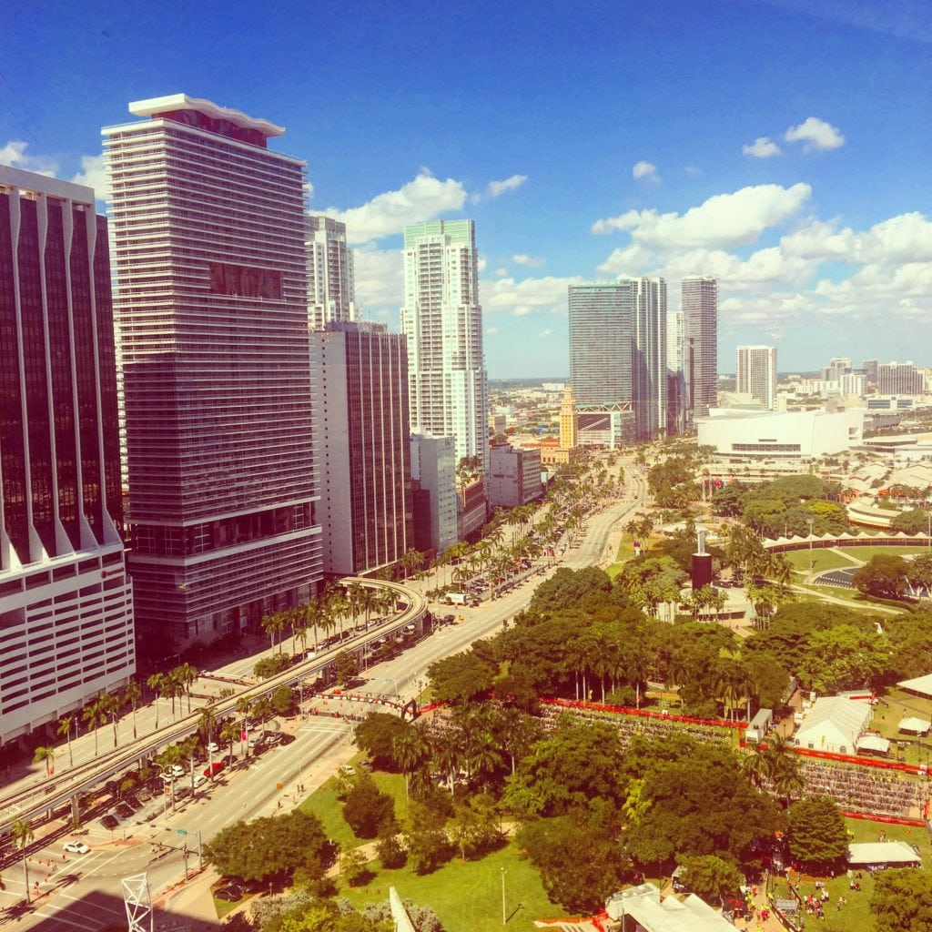 View from the Club Lounge of The InterContinental Miami.